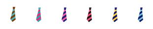 ネクタイ 6色