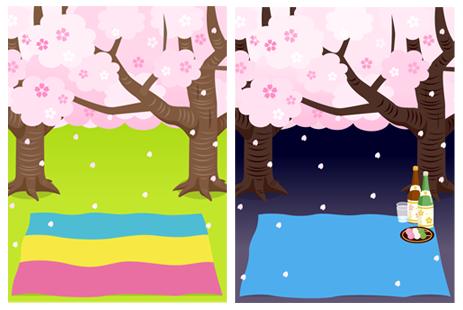 お花見(昼)&お花見(夜)