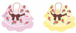 小花柄ワンピ 2色