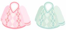 アーガイル柄セーター 2色