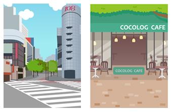 交差点&オープンカフェ