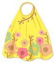 花柄マキシワンピ 黄色