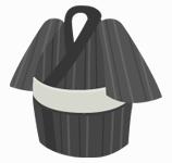 浴衣(男性用)グレー