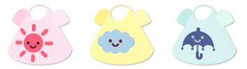 お天気Tシャツ 晴&曇&雨