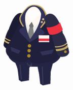 駅員の制服セット