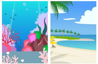 深海&リゾートビーチ