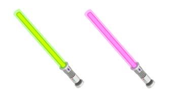 ライトセーバー 緑&ピンク