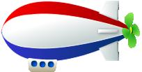 おもちゃの飛行船