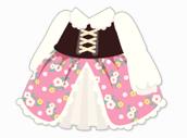 花柄カントリーワンピ