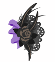 黒バラの髪飾り