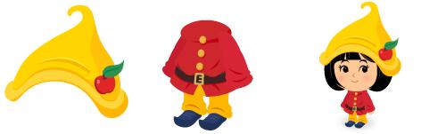 こびと帽 黄&こびとの服
