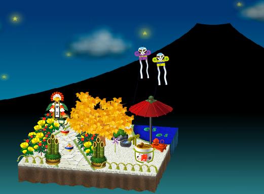 庭の飾り付け例 夜