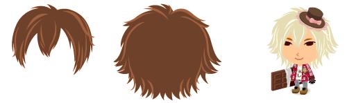 前髪 三つ分けシャギー&外ハネミディアム2