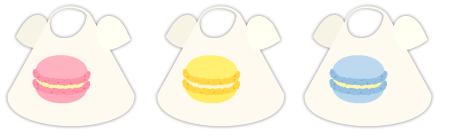 Tシャツ マカロン(桃)&マカロン(黄)&マカロン(青)