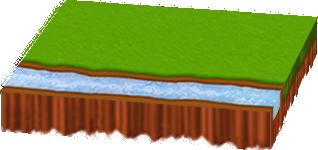 小川のある新緑シート