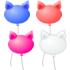 猫の風船 4色セット