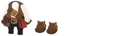 海賊の服、海賊ブーツ