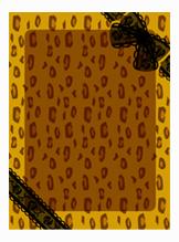 背景:ヒョウ柄×黒リボン