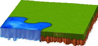 水辺のある新緑シートA