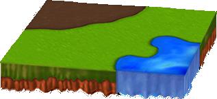 水辺と土のある新緑シートA