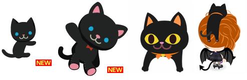 だっこ猫黒、黒猫のぬいぐるみ、頭のせ黒猫