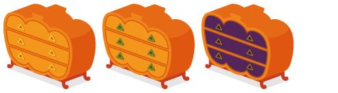 かぼちゃチェスト3種