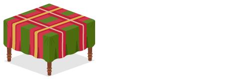 クロス付テーブル赤×緑