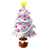 クリスマスツリー 白×桃