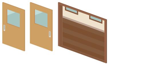 教室廊下ドア1・教室廊下ドア2・教室廊下ドア枠
