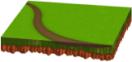 小道のある新緑シート