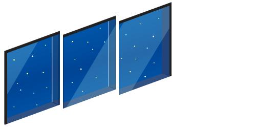 星空が見える窓