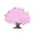 ちび桜の木 薄ピンク