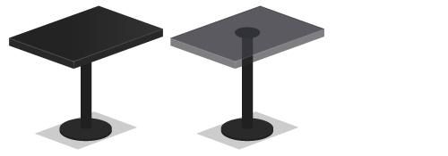 バーテーブルガラス・バーテーブル黒