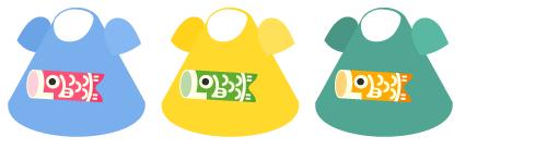 鯉のぼりTシャツ青藤・鯉のぼりTシャツ蒲公英・鯉のぼりTシャツ浅緑
