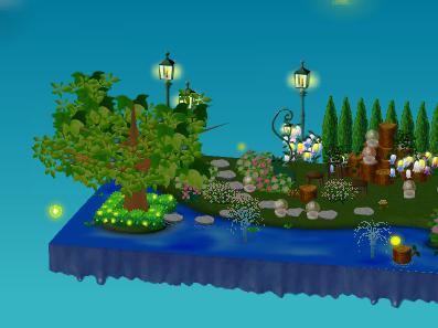 ホタルブッシュのある庭