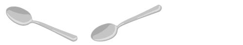 銀のスプーン上向き・銀のスプーン下向き