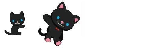 だっこ猫黒、黒猫のぬいぐるみ