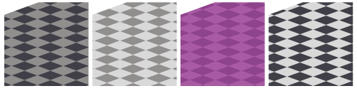 床市松黒×濃灰・床市松濃灰×淡灰・床市松紫×淡紫・床市松黒×淡灰