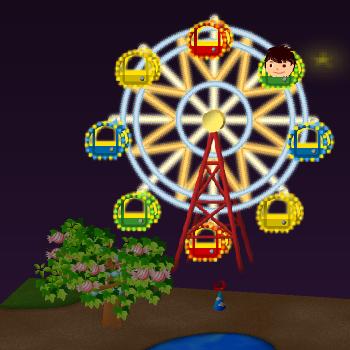 夜の観覧車