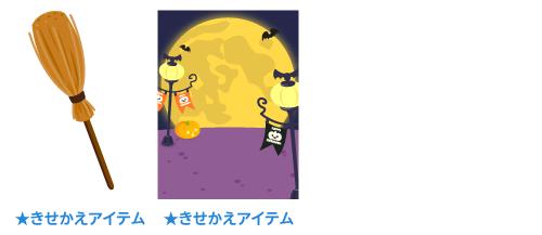 魔法のほうき・背景:月の遊園地
