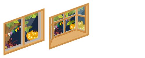 ハロウィンナイト小窓・ハロウィンナイト出窓