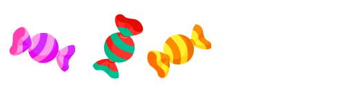ひねりキャンディプチ縞桃・ひねりキャンディプチ縞赤・ひねりキャンディプチ縞橙