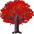 カエデの木B 赤