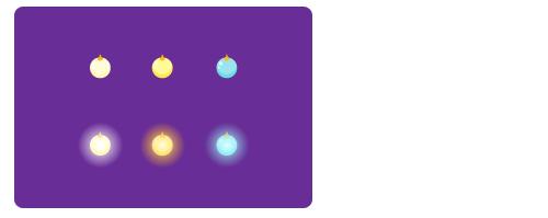 クーゲルミニアイボリー・クーゲルミニ薄黄・クーゲルミニ水色・クーゲルミニアイボリー光・クーゲルミニ薄黄光・クーゲルミニ水色光