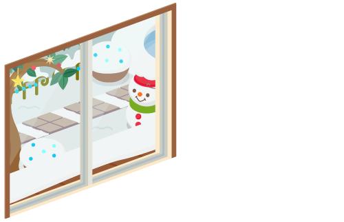 クリスマスデイ掃出窓