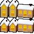 ガーデンライト 家 3種 6個