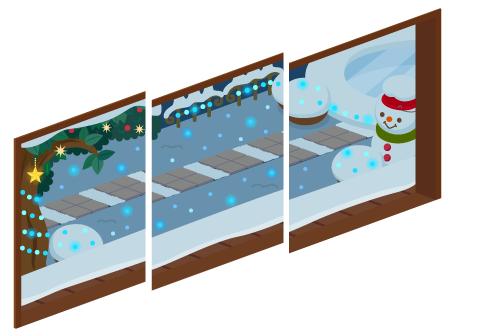 クリスマスナイト三連窓1・クリスマスナイト三連窓2・クリスマスナイト三連窓3