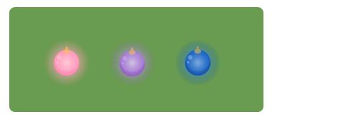 クーゲル濃桃光・クーゲル紫光・クーゲル藍光