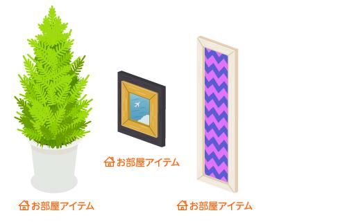 ゴールドクレスト鉢植・壁掛フレーム飛行機・壁掛フレームロング白紫