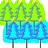 光るツリーピックA 2種6個